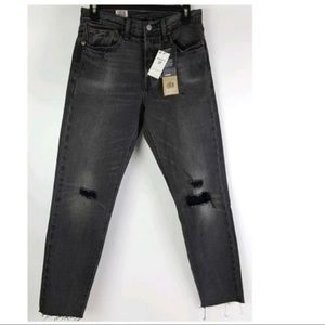 Levis Wedgie fit distressed jeans